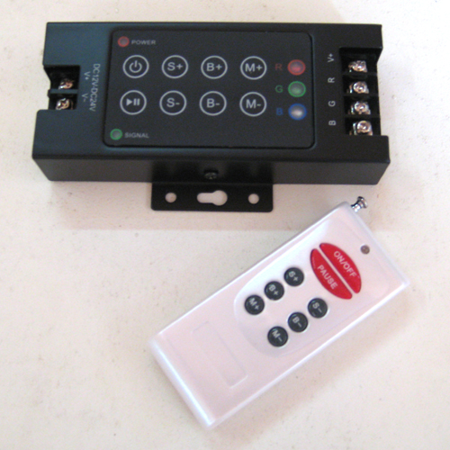 rgb led remote controller 25 programs rf handheld. Black Bedroom Furniture Sets. Home Design Ideas